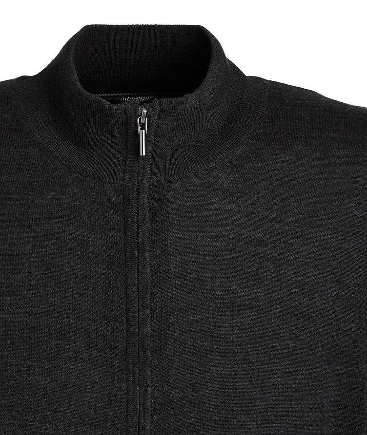 Extra-Fine Merino Wool Zip-Up Sweater image 1