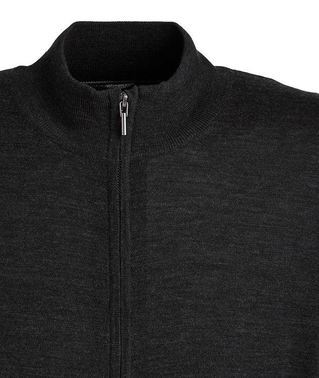 Extra-Fine Merino Wool Zip-Up Sweater picture 2