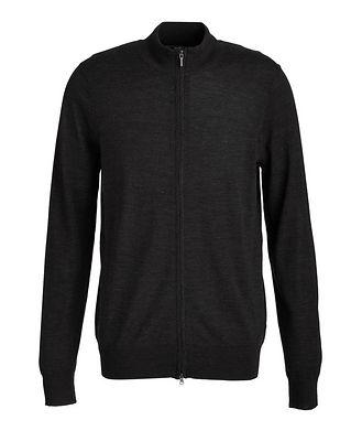 Patrick Assaraf Extra-Fine Merino Wool Zip-Up Sweater