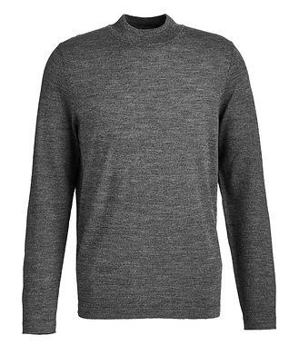 Patrick Assaraf Merino Wool Mock Neck Sweater