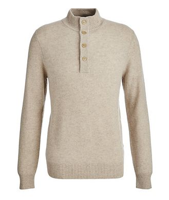 Patrick Assaraf Combed Cashmere Mock Neck Sweater