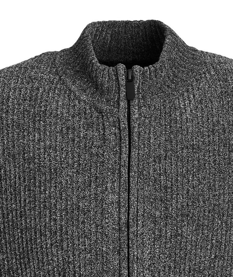 Chenille Stretch Zip-Up Sweater image 1
