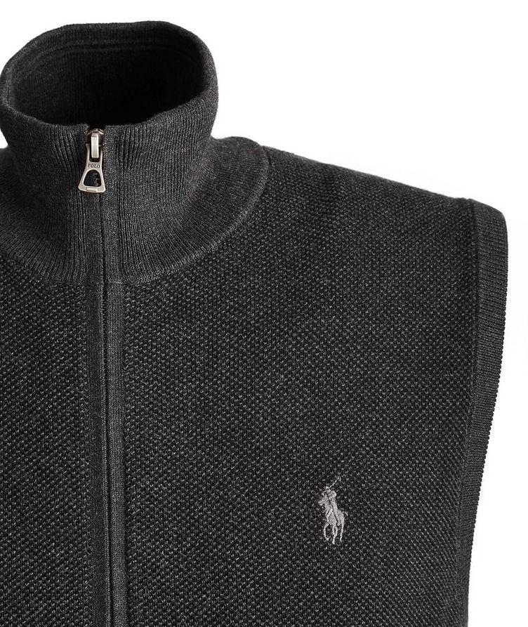 Zip-Up Cotton Vest image 1