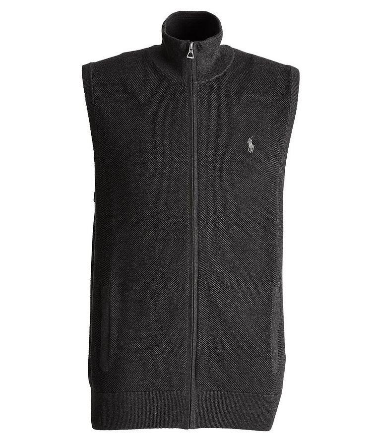 Zip-Up Cotton Vest image 0