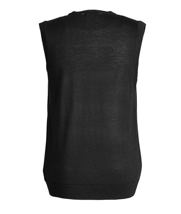 Pullover Extra-Fine Merino Wool Vest picture 2