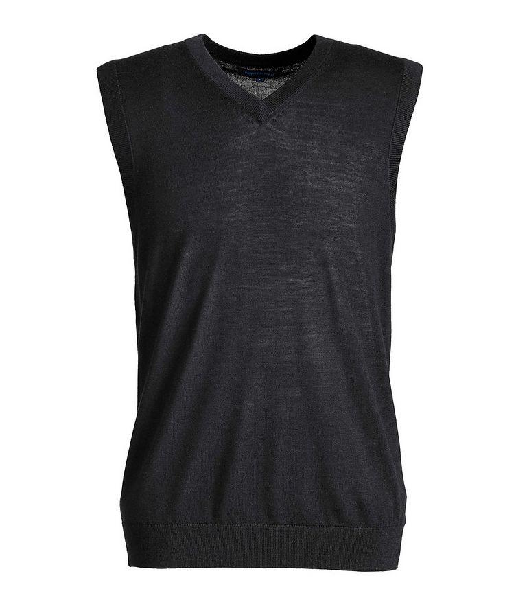 Pullover Extra-Fine Merino Wool Vest image 0