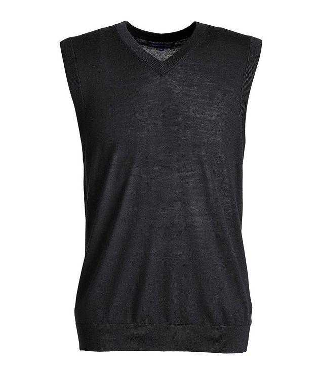 Pullover Extra-Fine Merino Wool Vest picture 1