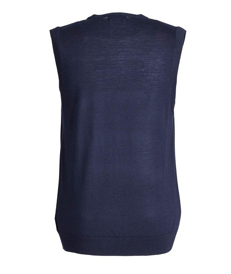 Pullover Extra-Fine Merino Wool Vest image 1
