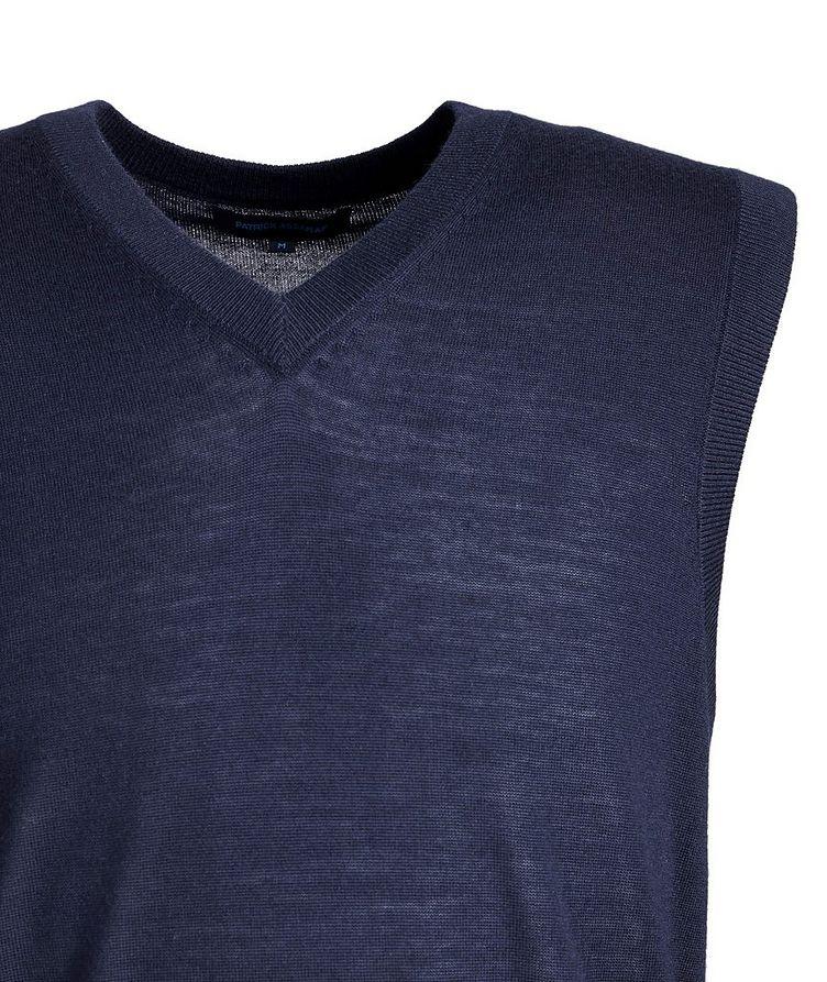 Pullover Extra-Fine Merino Wool Vest image 2
