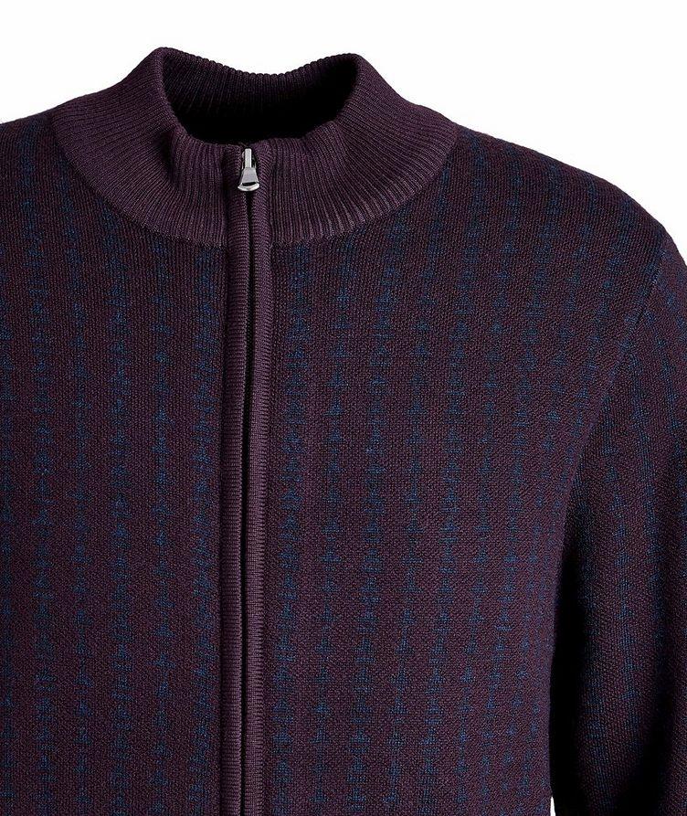 Zip-Up Extra-Fine Merino Sweater image 2
