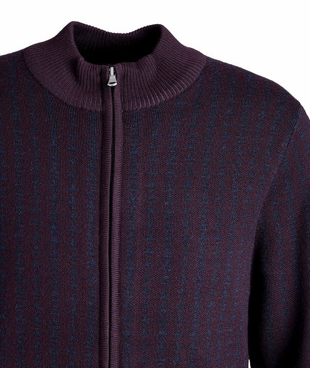 Zip-Up Extra-Fine Merino Sweater picture 3