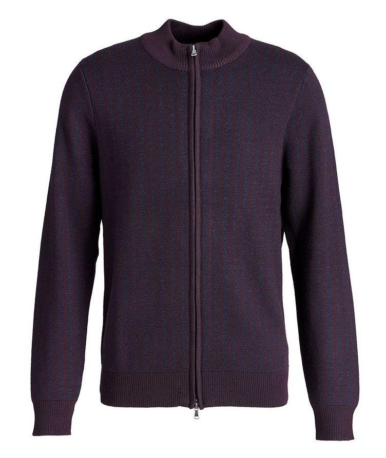 Zip-Up Extra-Fine Merino Sweater image 0
