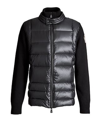 Moncler Grenoble Après-Ski Quilted Down Cardigan