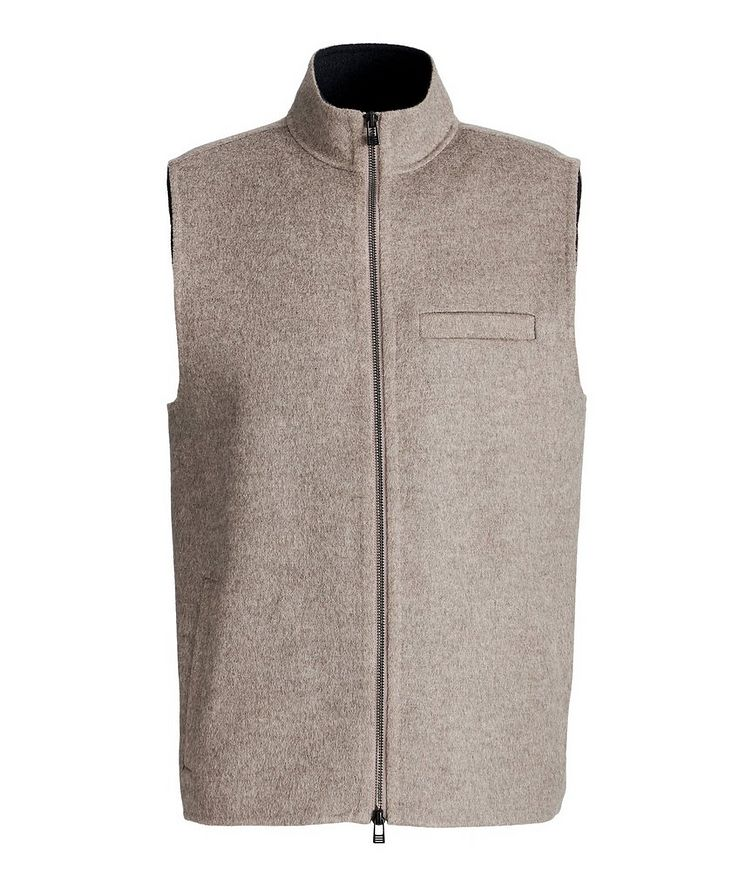 Zip-Up Wool-Cashmere Vest image 0
