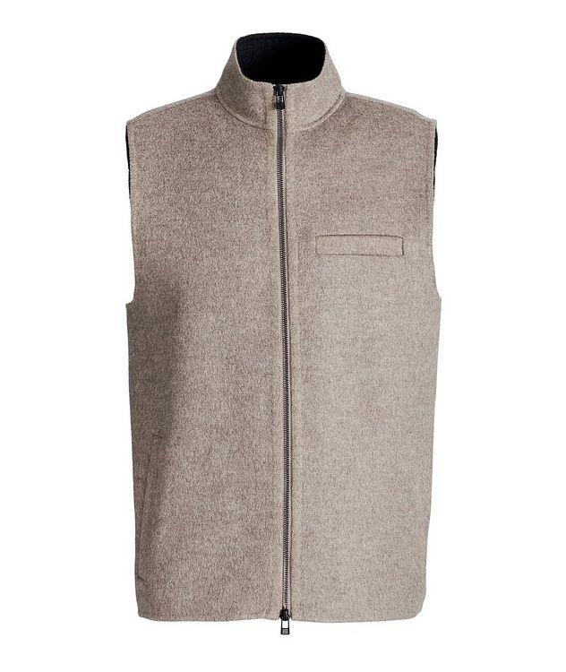 Zip-Up Wool-Cashmere Vest picture 1