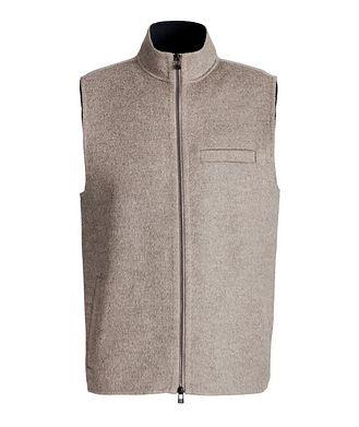 Patrick Assaraf Zip-Up Wool-Cashmere Vest