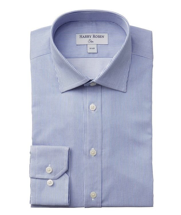 Contemporary Fit Striped Cotton Dress Shirt picture 1