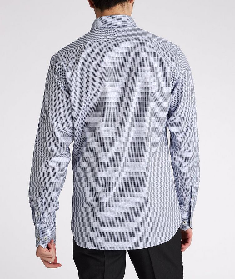 Contemporary-Fit Micro-Checked Cotton Dress Shirt image 2