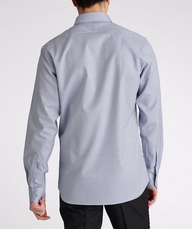 Contemporary-Fit Micro-Checked Cotton Dress Shirt picture 3