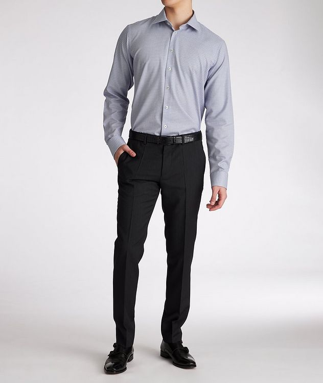 Contemporary-Fit Micro-Checked Cotton Dress Shirt picture 5