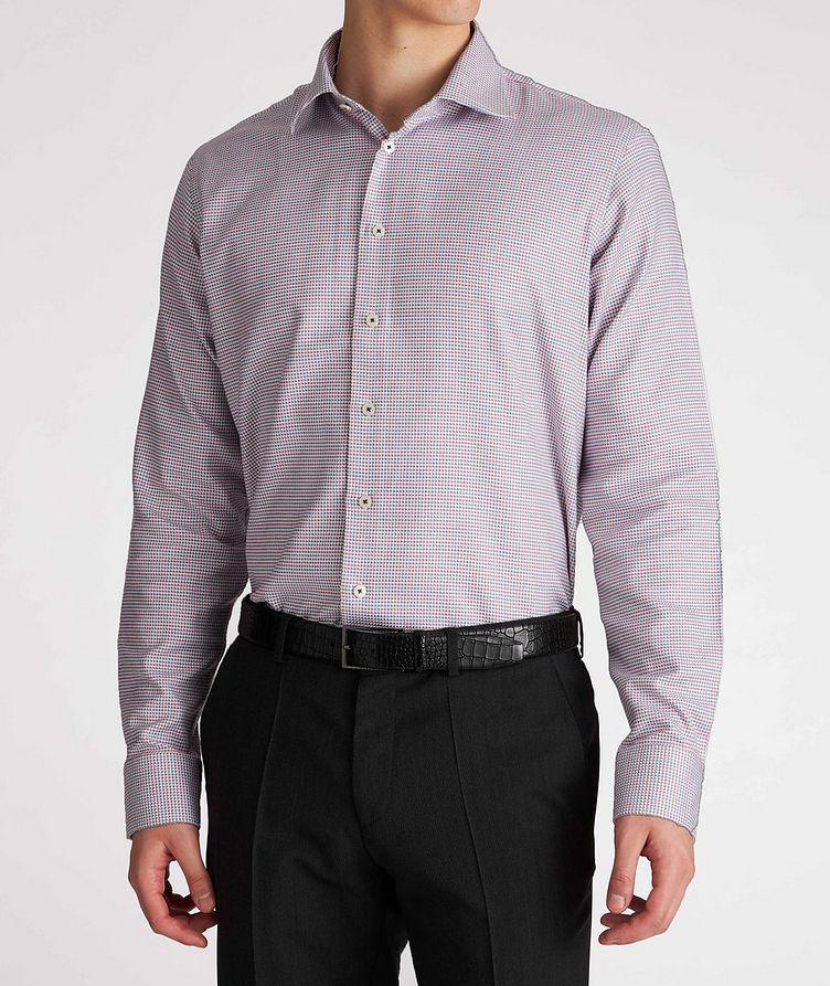 Contemporary-Fit Geometric Cotton Dress Shirt image 1