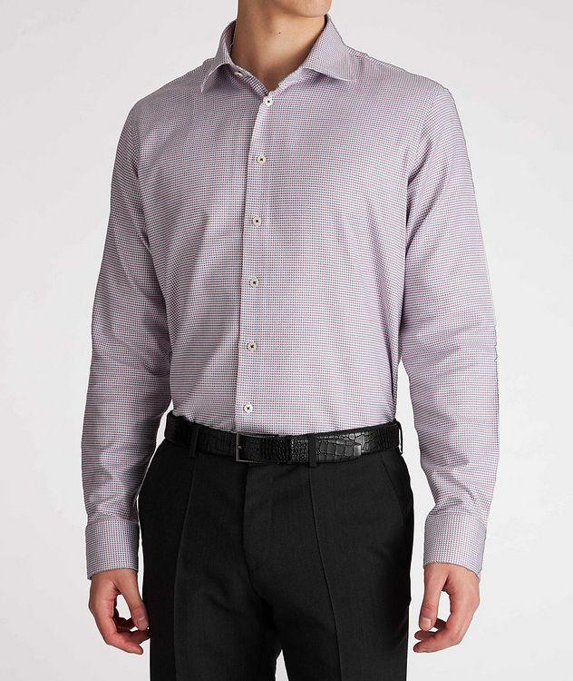 Contemporary-Fit Geometric Cotton Dress Shirt picture 2