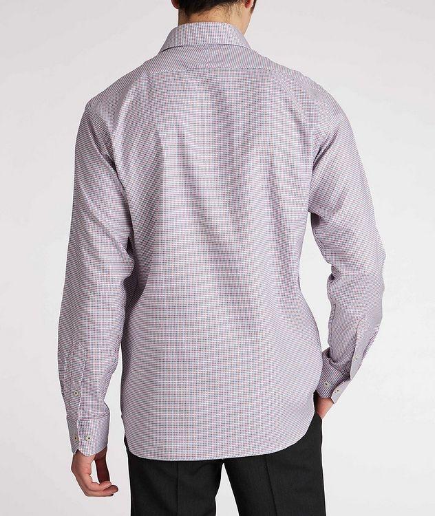 Contemporary-Fit Geometric Cotton Dress Shirt picture 3