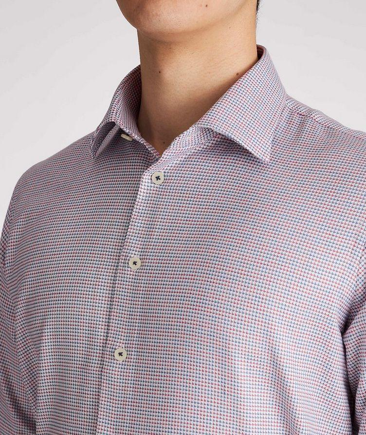 Contemporary-Fit Geometric Cotton Dress Shirt image 3