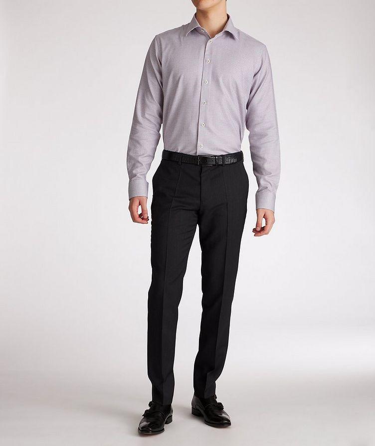 Contemporary-Fit Geometric Cotton Dress Shirt image 4