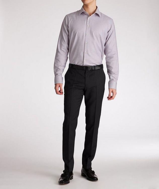 Contemporary-Fit Geometric Cotton Dress Shirt picture 5