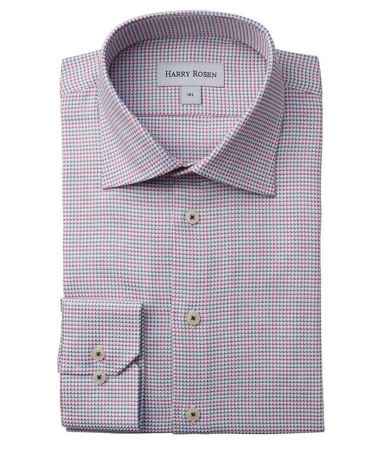 Contemporary-Fit Geometric Cotton Dress Shirt image 0