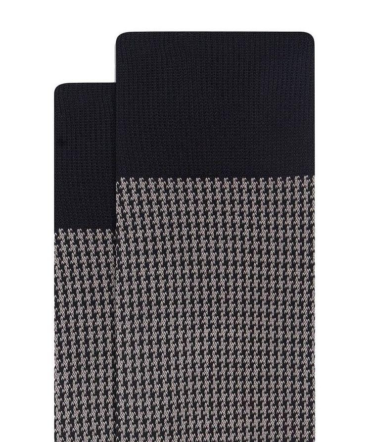 Houndstooth Cotton Socks image 1