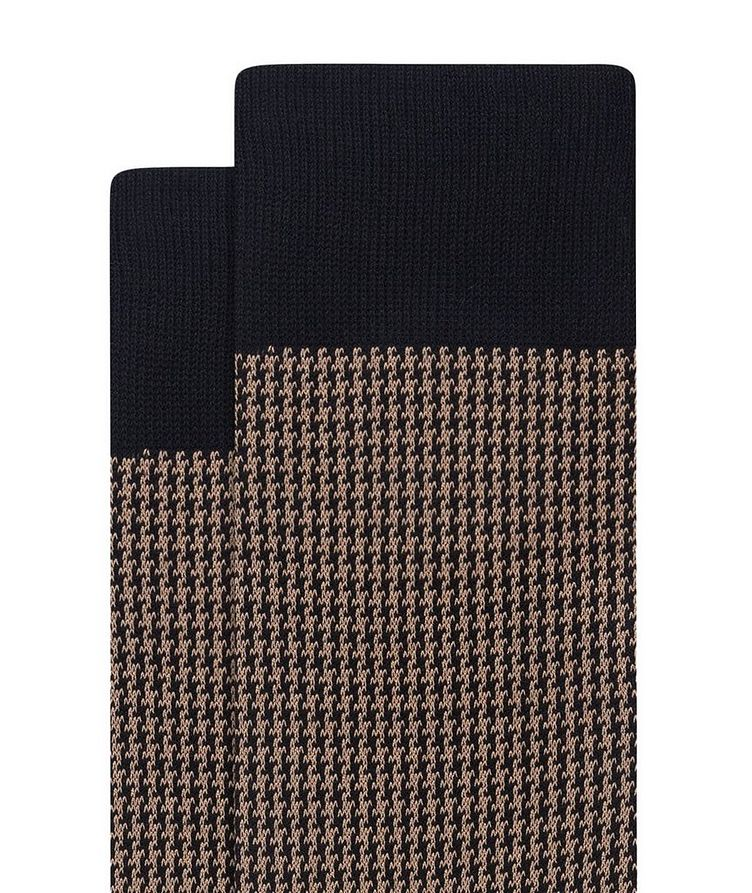 Houndstooth Cotton Socks image 1