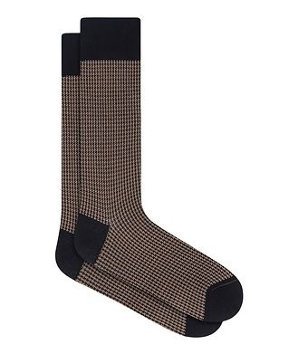 Bugatchi Houndstooth Cotton Socks