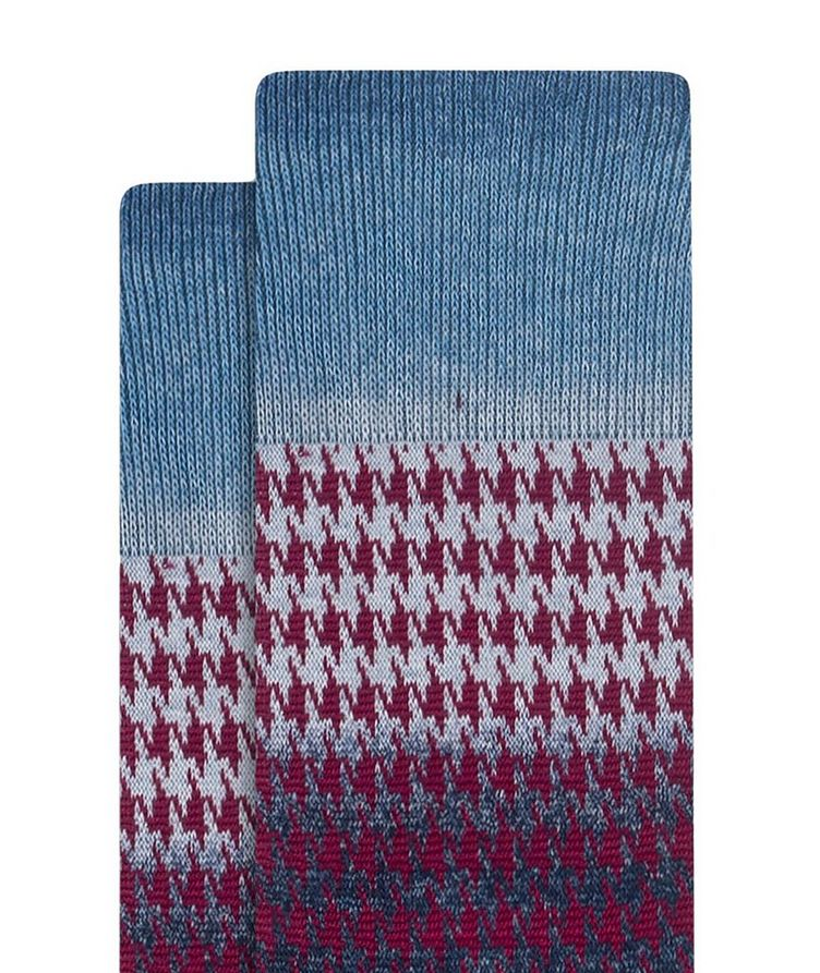 Gradient Houndstooth Cotton Socks image 1