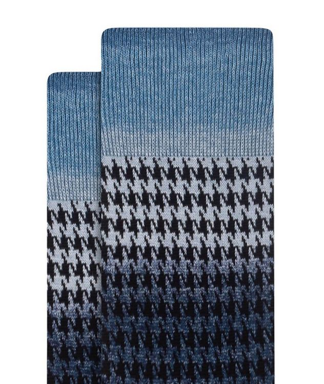 Gradient Houndstooth Cotton Socks picture 2