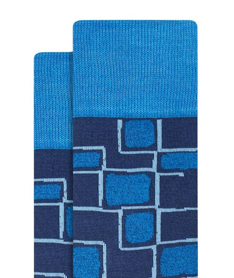 Geometric Print Cotton Socks image 1