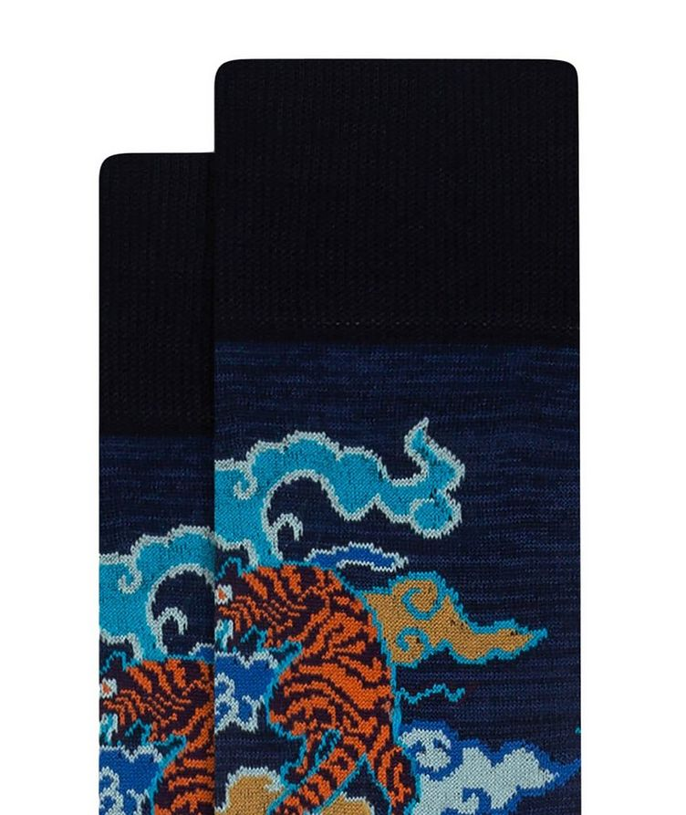Tiger Print Cotton Socks image 1