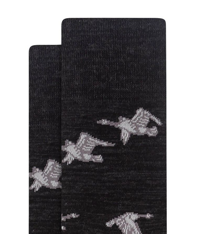 Goose Print Cotton Socks image 1