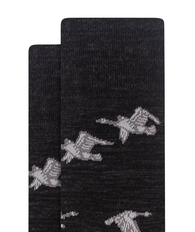 Goose Print Cotton Socks picture 2