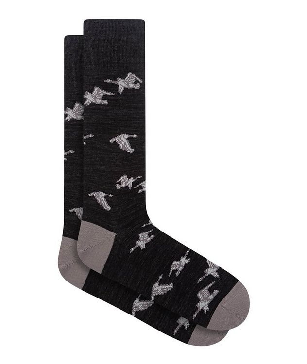 Goose Print Cotton Socks picture 1