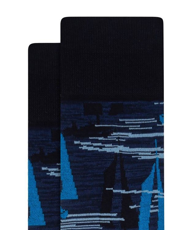 Sailboat Print Cotton Socks picture 2