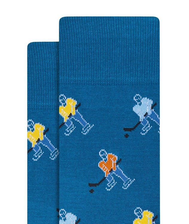 Hockey Print Cotton Socks picture 2