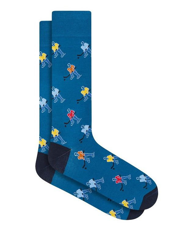 Hockey Print Cotton Socks picture 1