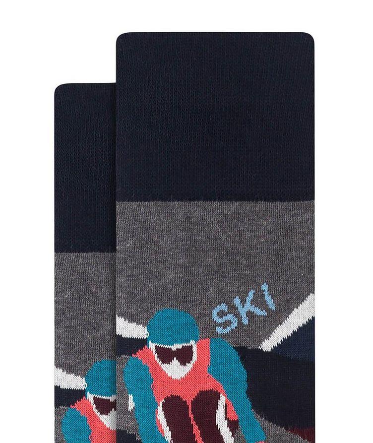 Slalom Ski Print Cotton Socks image 1