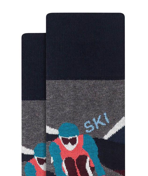 Slalom Ski Print Cotton Socks picture 2