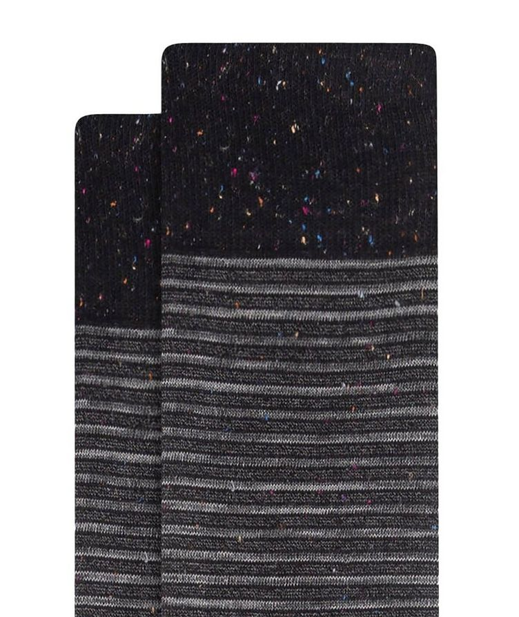 Striped Mercerized Cotton Socks image 1