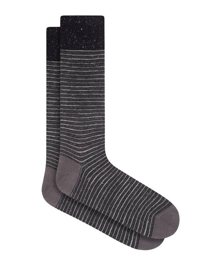 Striped Mercerized Cotton Socks image 0