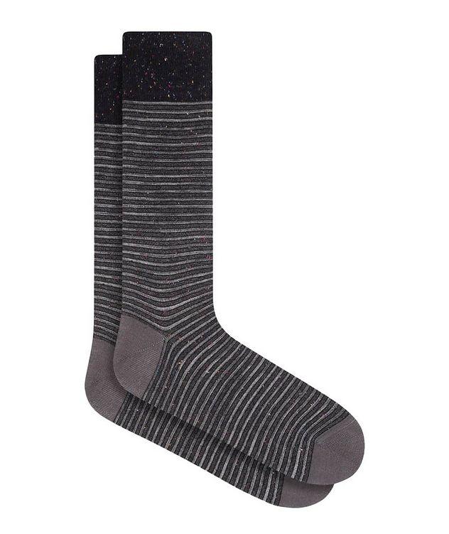 Striped Mercerized Cotton Socks picture 1