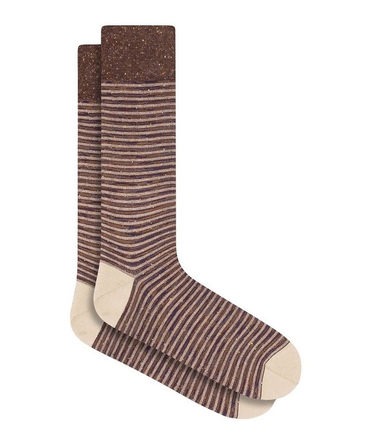 Striped Mercerized Cotton Socks image 0